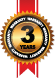 Three Year Warranty Seal